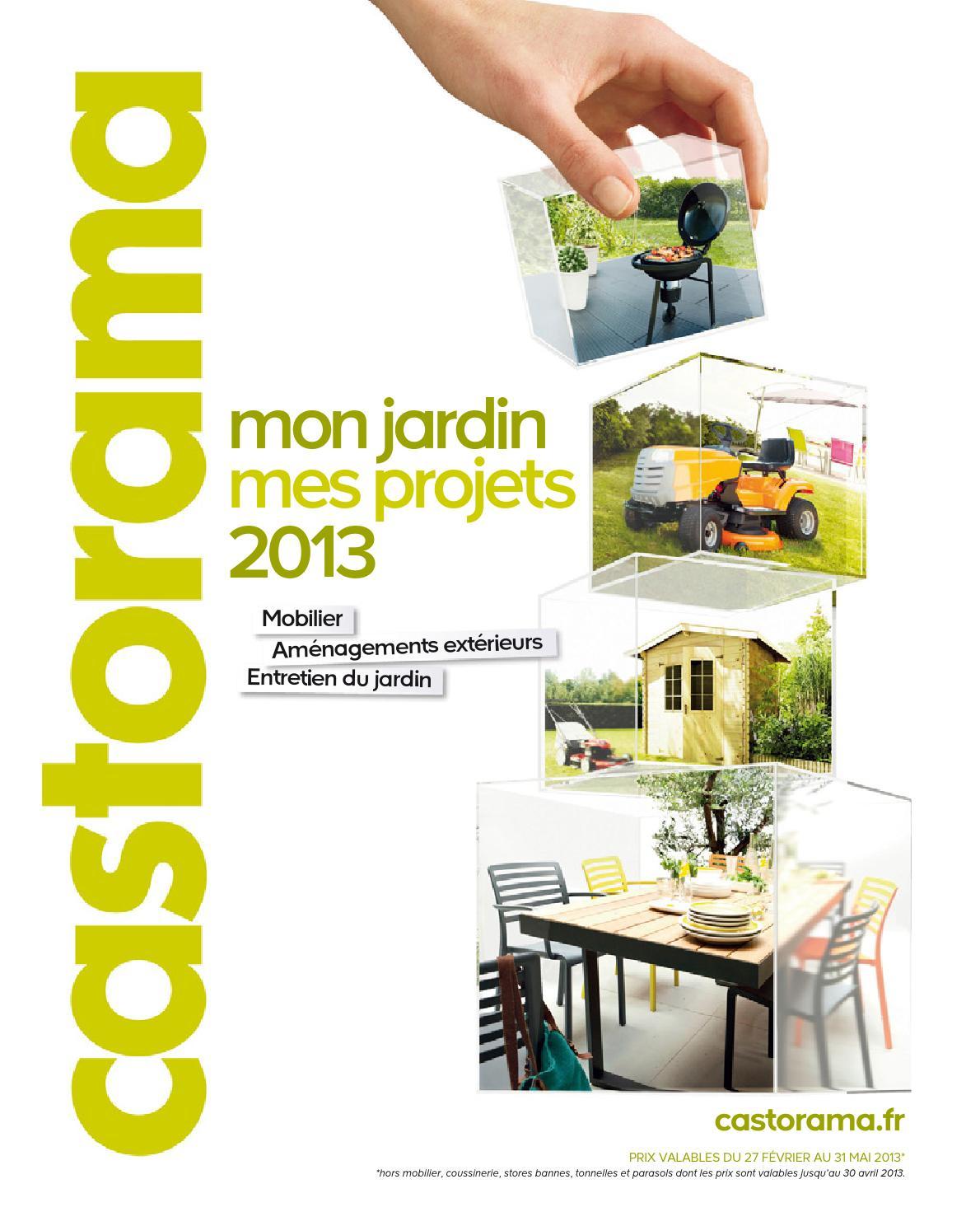 Catalogue Castorama Jardin Projets By Margot Ziegler - Issuu encequiconcerne Toile Pour Pergola 4X3 Castorama