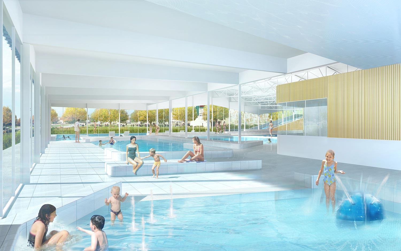 Centre Aquatique - Alt 127 . Architectes concernant Piscine De Combourg