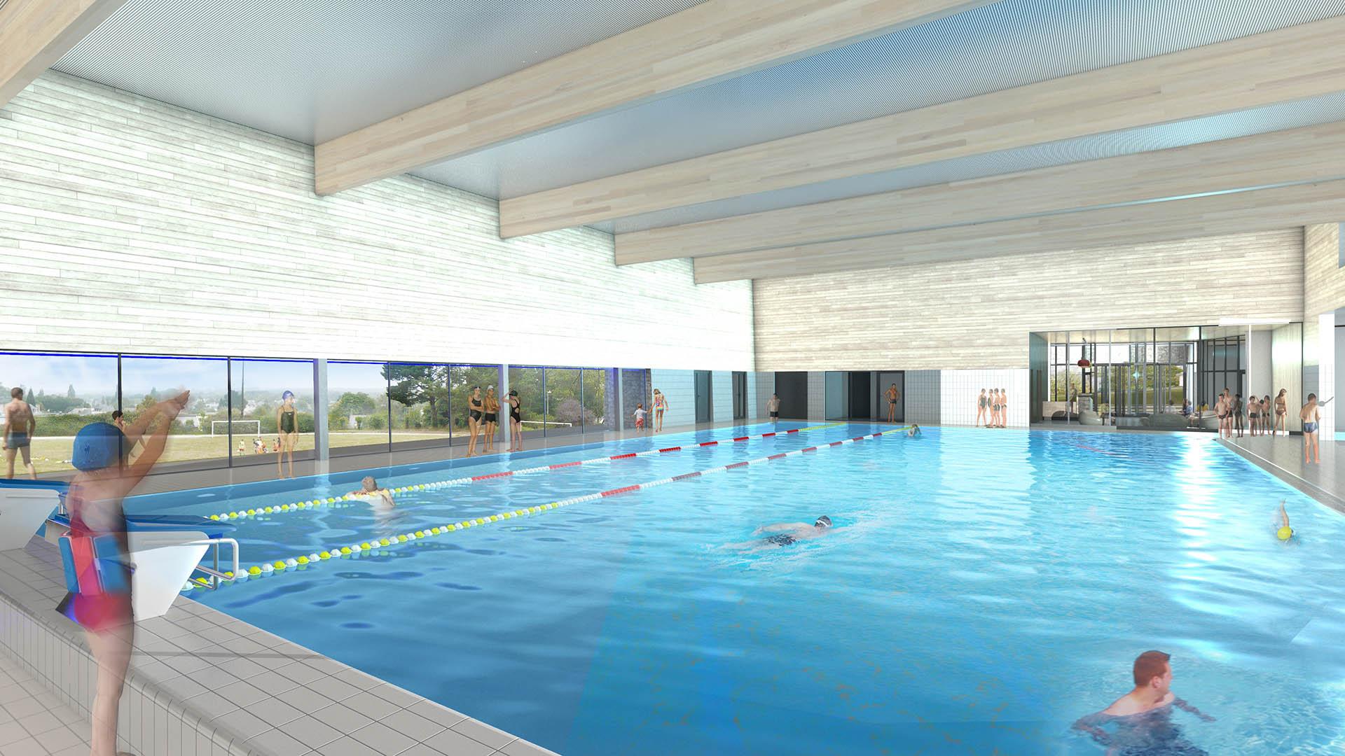 Centre Aquatique De Malestroit | Atelier Périnet-Marquet Et ... serapportantà Piscine Malestroit