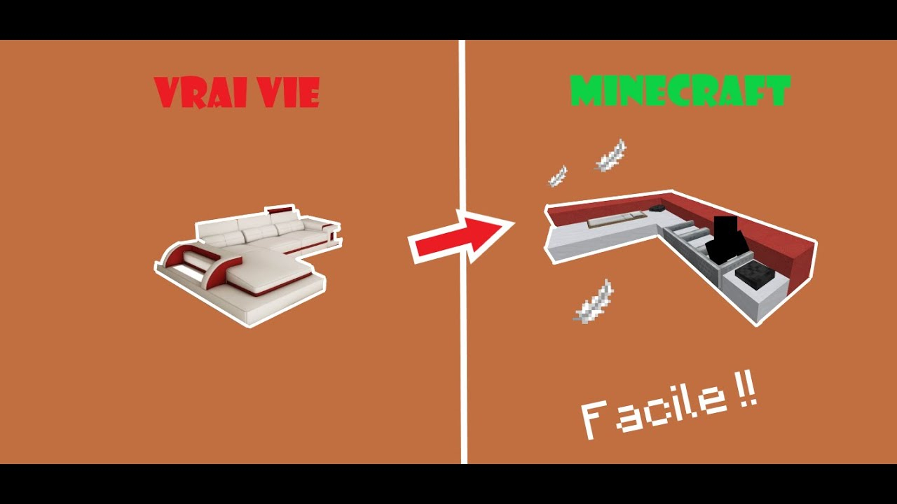 Comment Faire Un Canapé Fnctionel Sur Minecraft | Tutos ... serapportantà Comment Faire Un Canapé Sur Minecraft