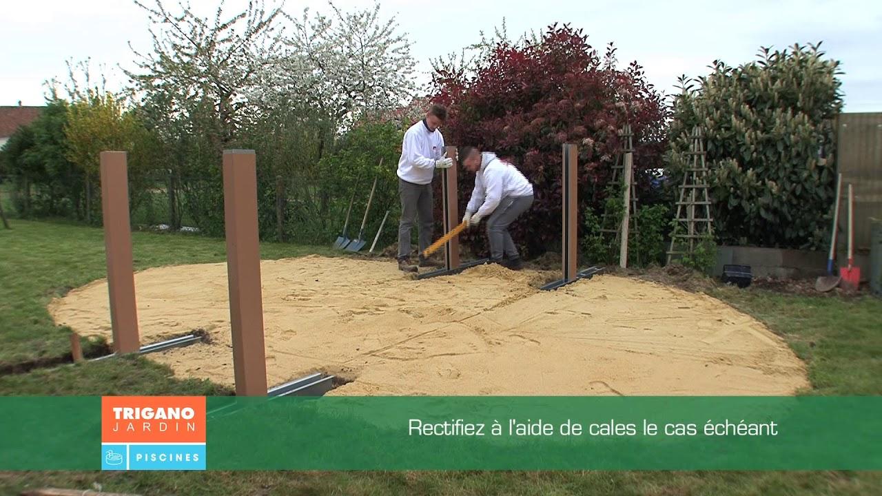 Comment Installer Une Piscine Hors Sol - Installation Des Jambes De Force  (Étape 2/6) concernant Sur Quoi Poser Une Piscine Hors Sol