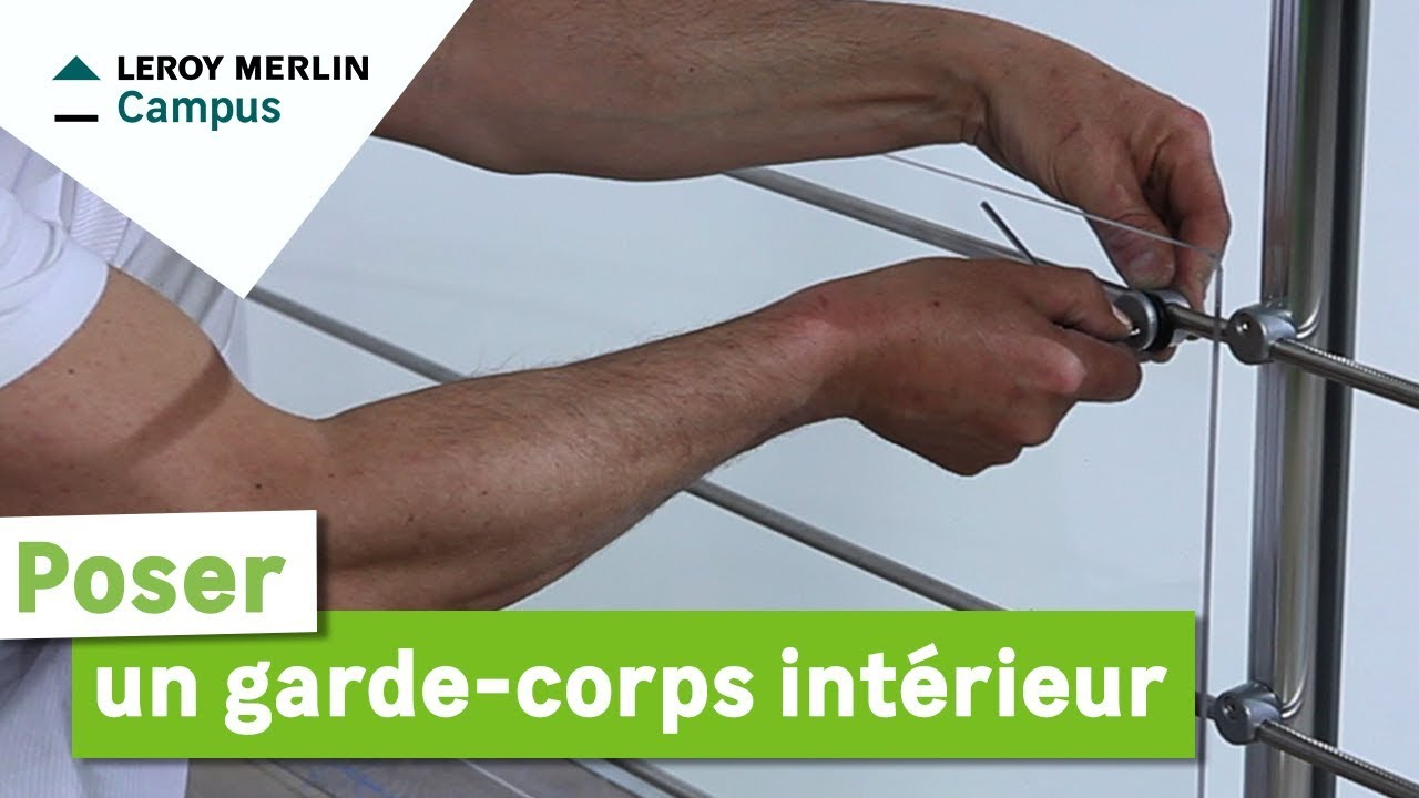 Comment Poser Un Garde-Corps Intérieur ? Leroy Merlin pour Garde-Corps Plexiglas Castorama