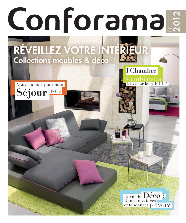 Conforama_Fr-Meubles & Déco2012 By Proomo France - Issuu serapportantà Canapé Angle Arrondi Conforama