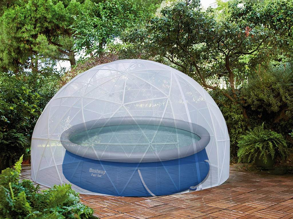 Couverture D'Hiver Pour Abri Bulle Piscine Et Spa Garden Igloo intérieur Dome Piscine Hors Sol