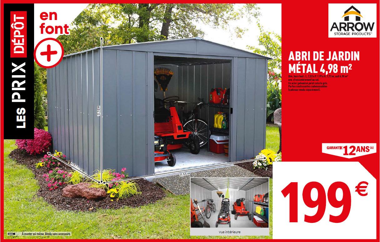 دافع عن كرامته إقامة الفارق Brico Depot Abri De Jardin tout Abri De Jardin Metal 10M2 Brico Depot