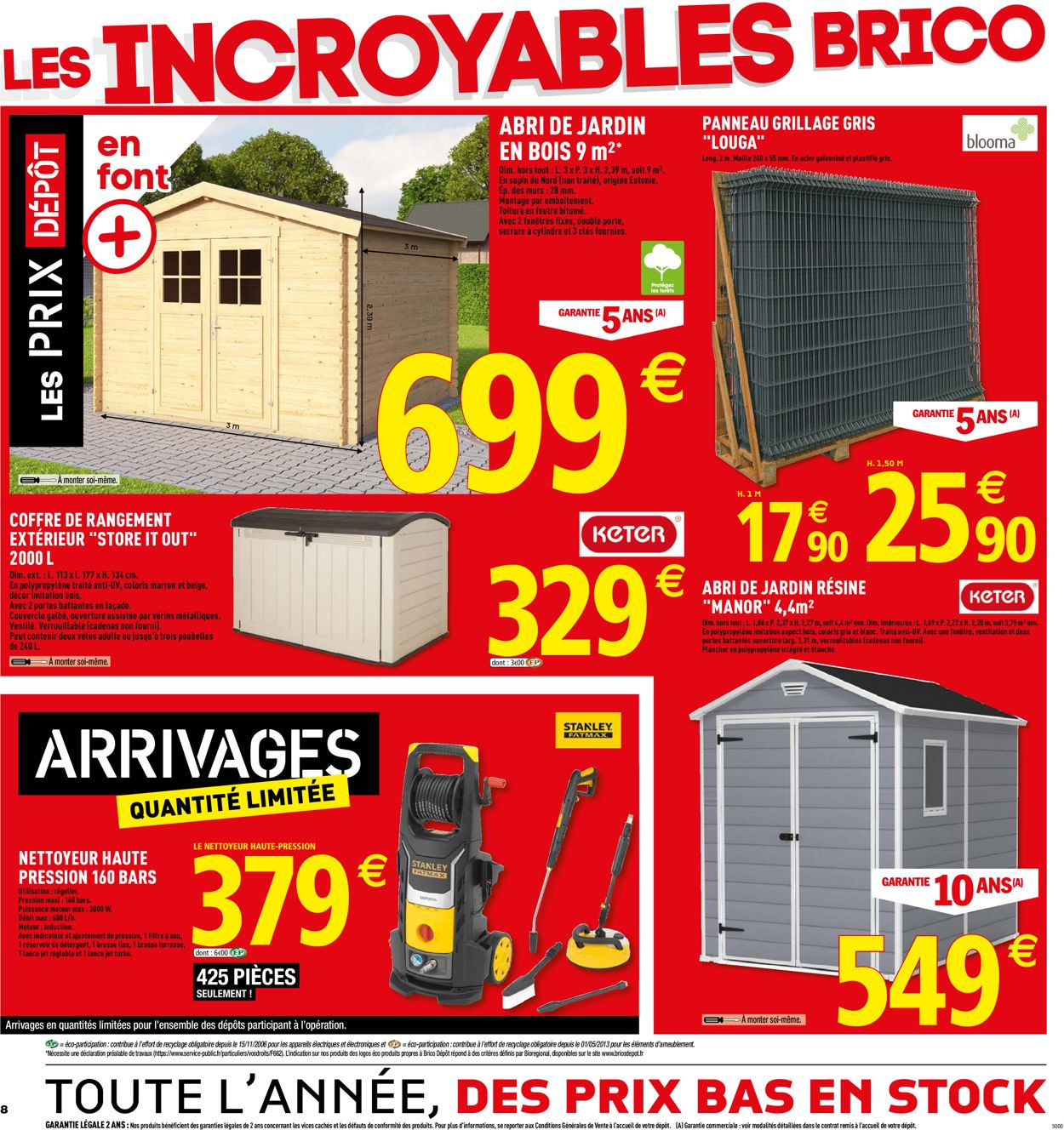 زاوية الدماغ شظية Abri De Jardin A Brico Depot ... tout Abri De Jardin Metal 10M2 Brico Depot