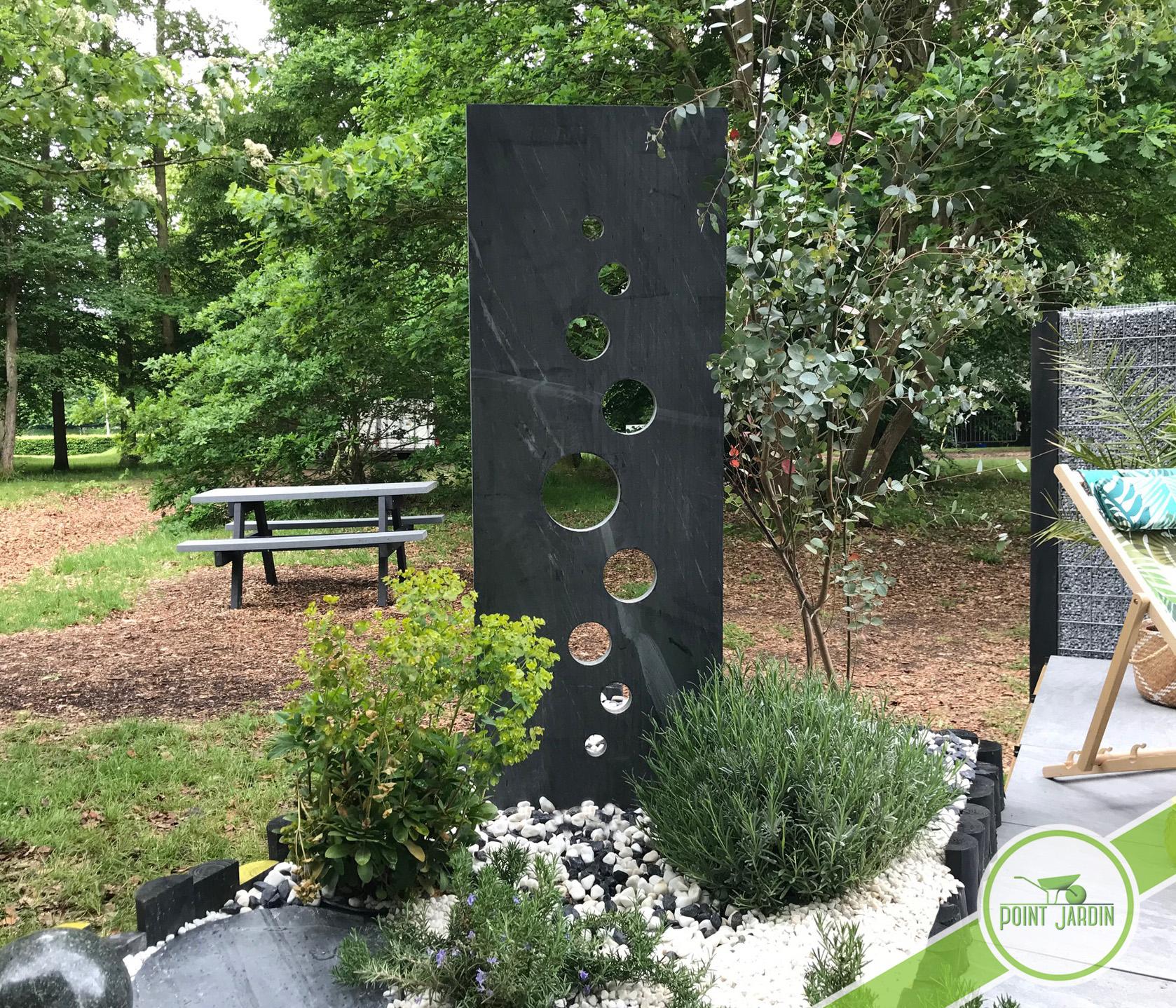 Dalle-Bubble-Ardoise - Point Jardin encequiconcerne Idee Deco Jardin Avec Ardoise
