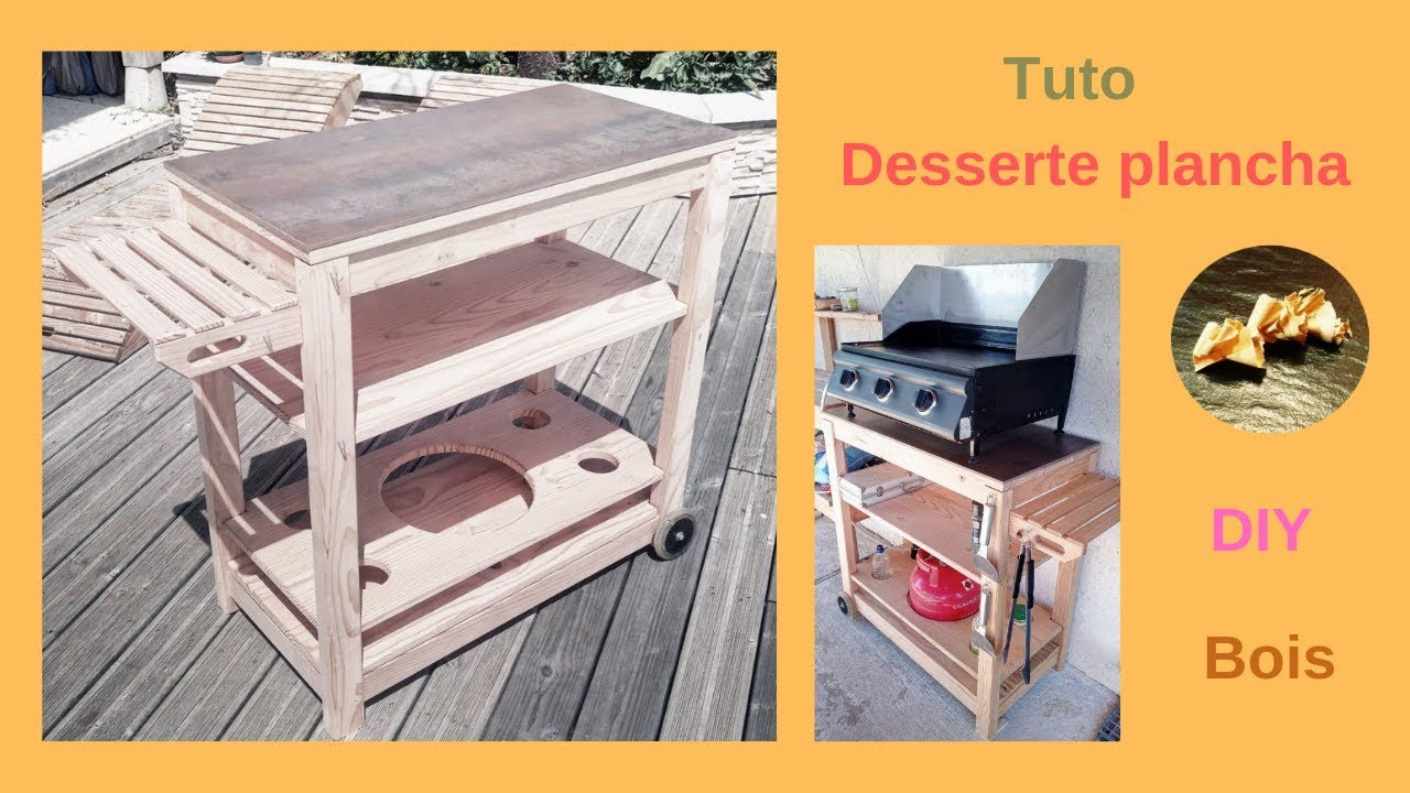 Desserte Plancha Chariot À Roulettes En Bois encequiconcerne Diy Desserte Plancha