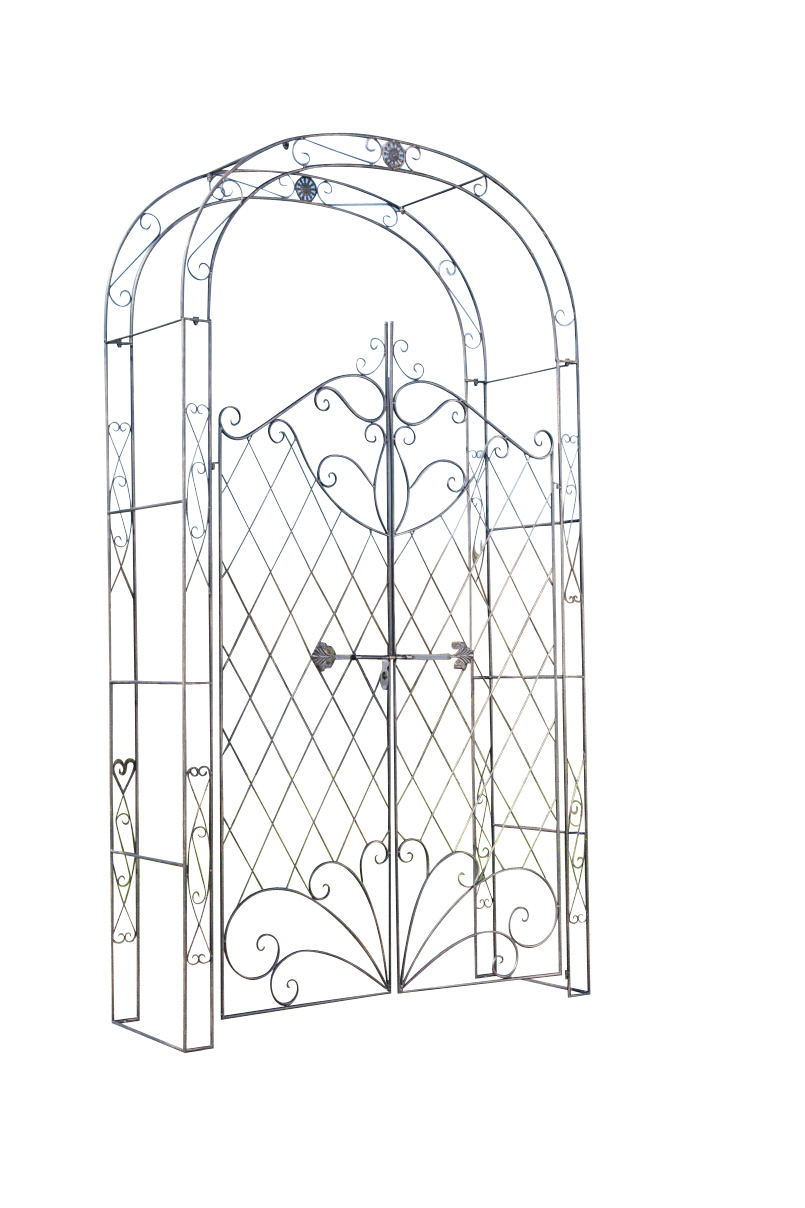 Details About Arche For Roses Melissa With Holder Cage Garden Design  Wrought Iron- Show Original Title concernant Arche Rosier Fer Forge