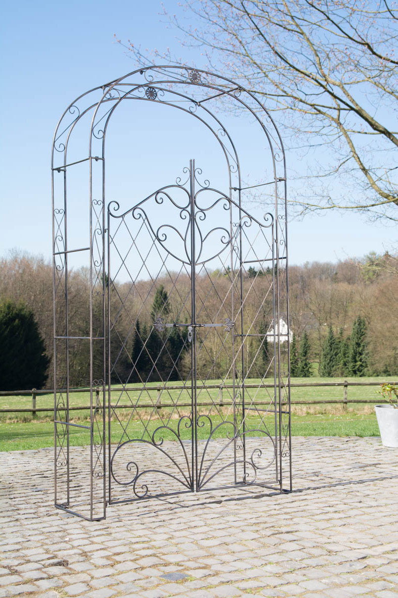 Details About Arche For Roses Melissa With Holder Cage Garden Design  Wrought Iron- Show Original Title pour Arche Rosier Fer Forge