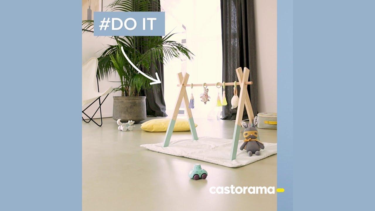 Diy : Fabriquer Un Portique D'Éveil En Bois - Castorama à Portique Castorama