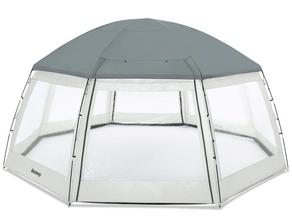 Dôme Bestway Piscine Hors-Sol Ronde Flowclear Ø600 X H295 Cm tout Dome Piscine Hors Sol