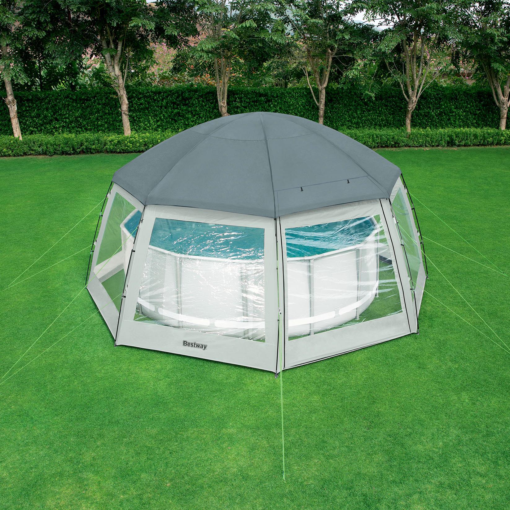 Dôme De Protection Pour Piscine Hors Sol 6X6X2,95M encequiconcerne Dome Piscine Hors Sol