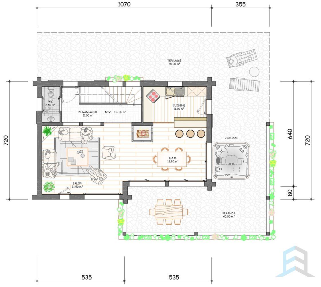 E Immobilier - 3 Luxus-Chalets Im Herzen Des 4 Vallées ... dedans Plan Chalet 18 20