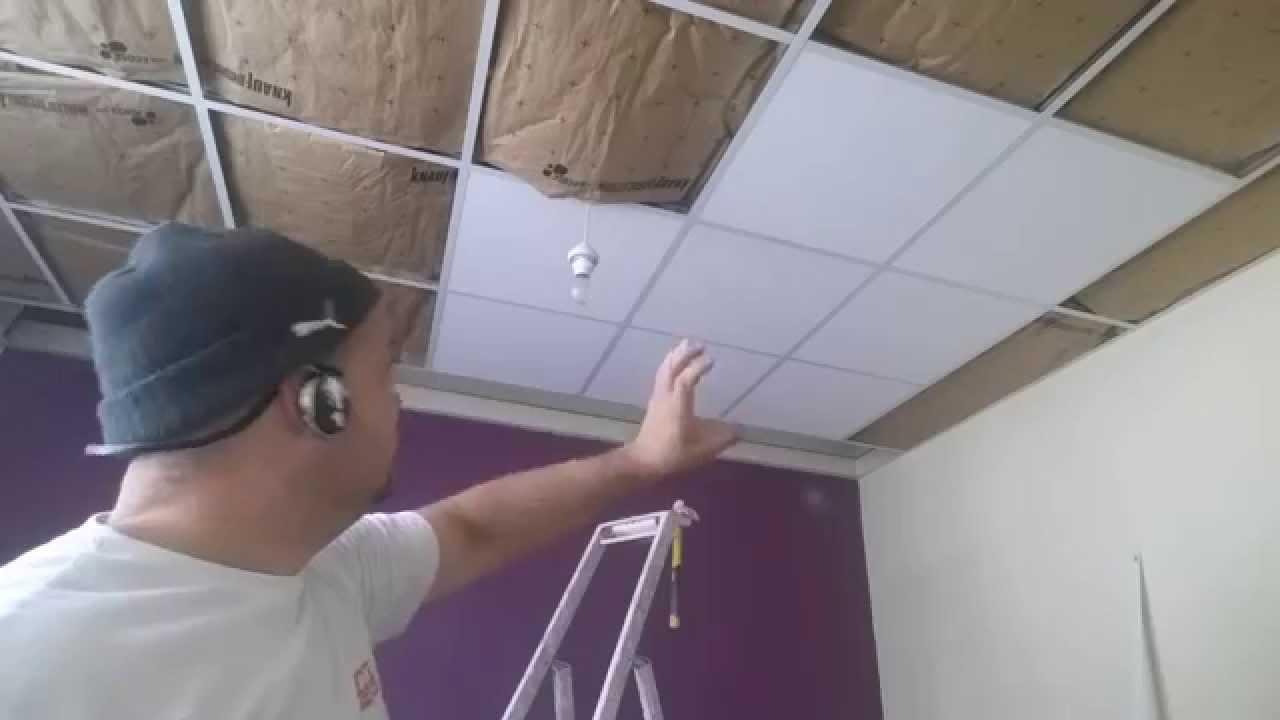 ⏩ Faux Plafond Suspendu, La Pose Des Dalle Îlot Centrale ! encequiconcerne Dalle Faux Plafond 60X60 Brico Depot