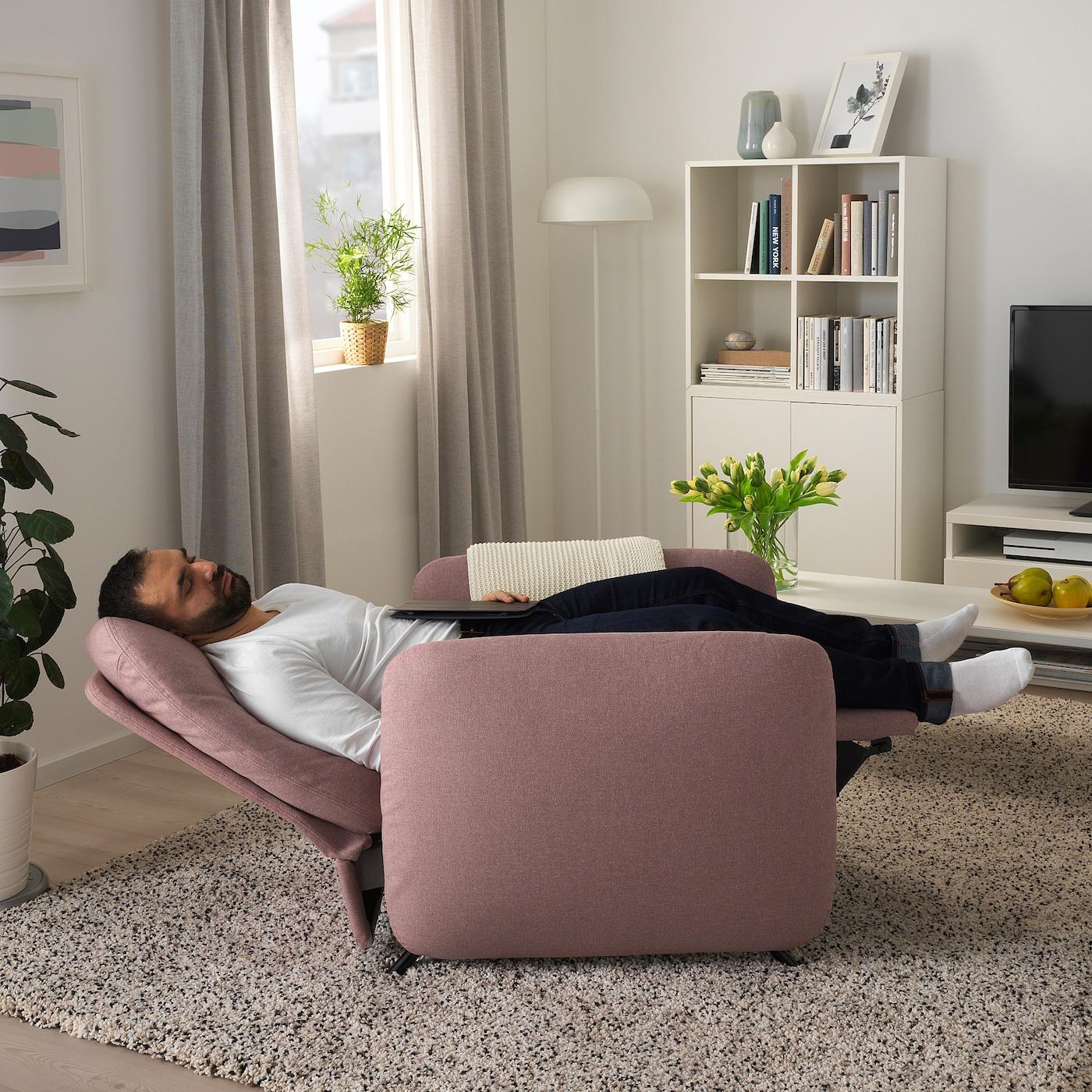 Ekolsund Fauteuil Confort - Gunnared Brun-Rose Clair concernant Fauteuil Relax Électrique Ikea