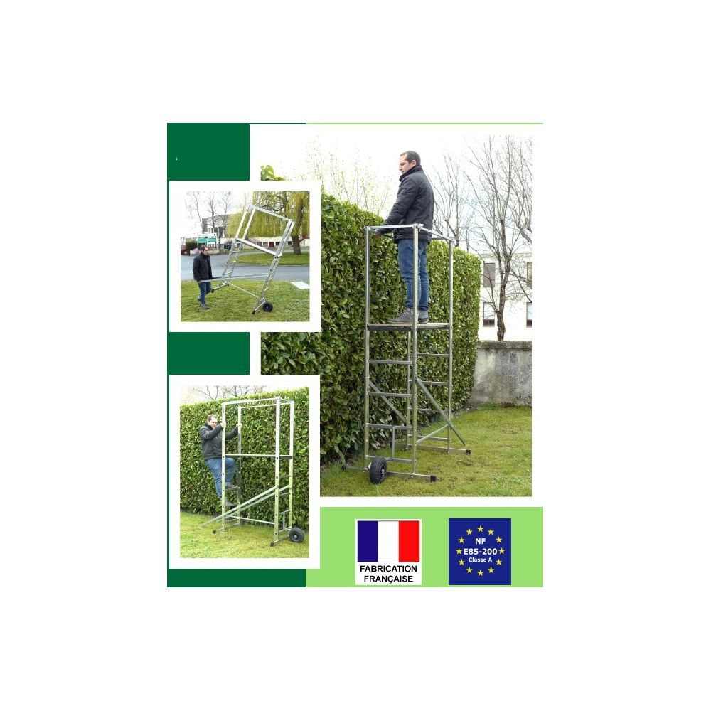Escalux - Escalux - Echafaudage De Jardin En Aluminium Haut ... destiné Escalux Hortus 140