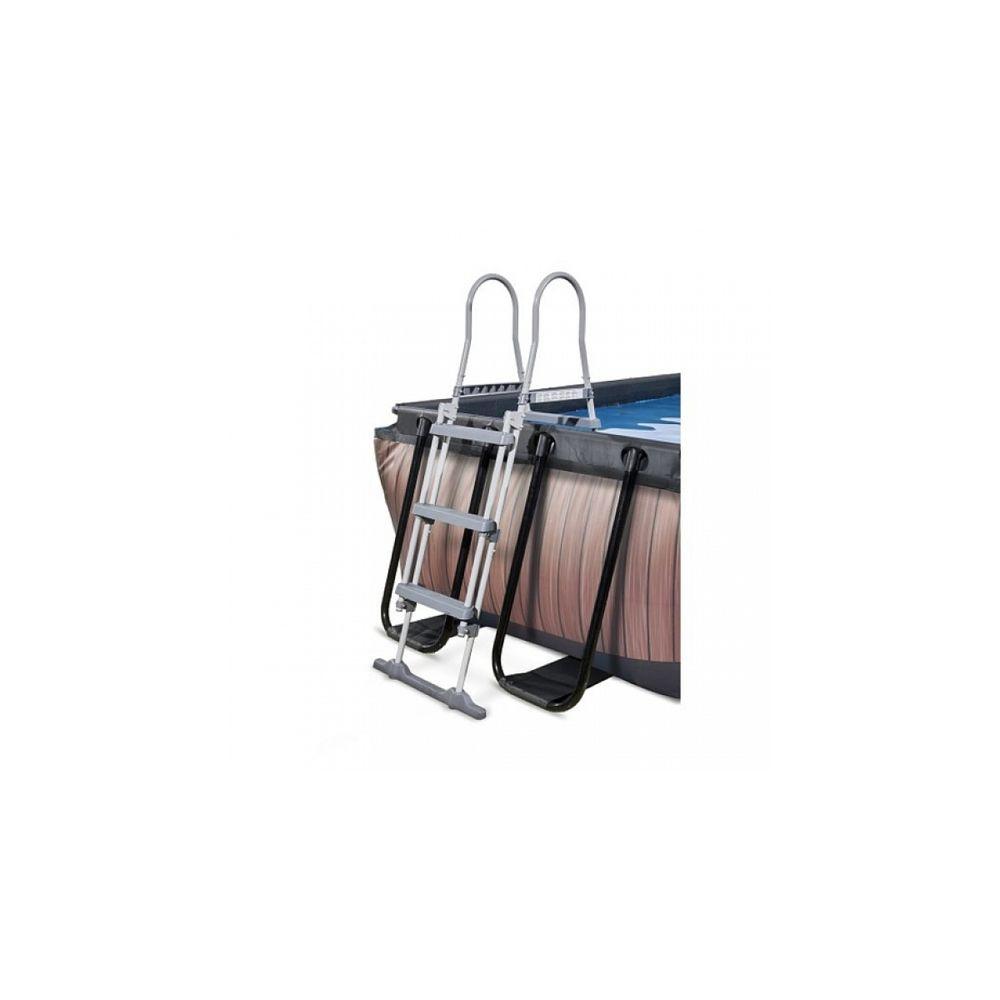 Exit - Exit Piscine 5.4X2.5X1M Premium Wood Marron + Boitier ... avec Exit Piscine Tubulaire