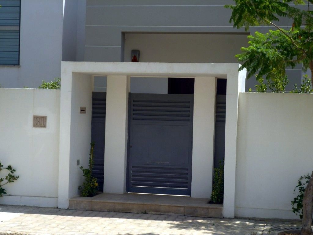Fabrication Sur Mesure Pour Portes D´entrée De Villa ... serapportantà Decoration Cloture Exterieur Maison En Tunisie
