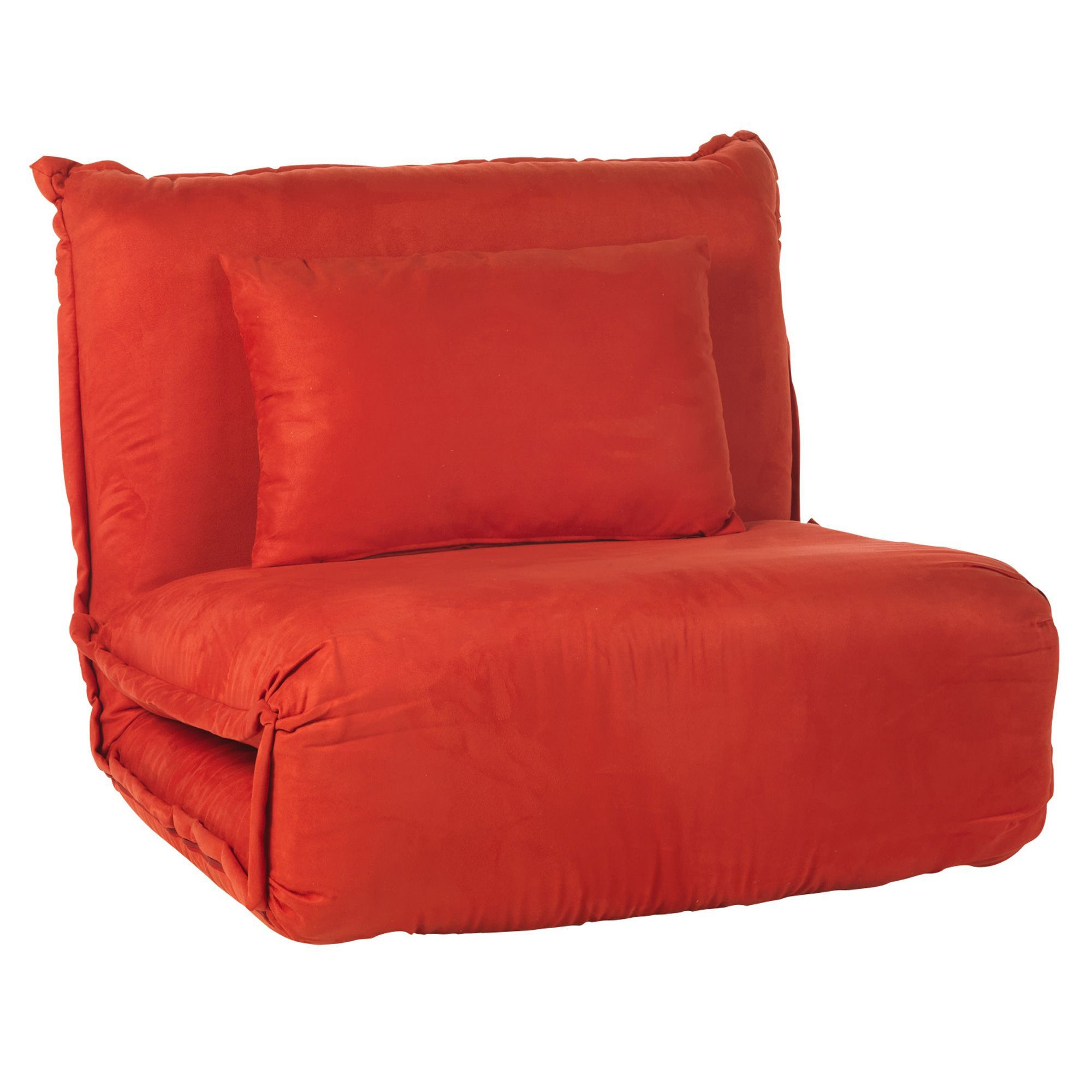 Fauteuil Convertible Rouge Rouge - Dodo - Les Fauteuils ... tout Fauteuil Convertible 1 Place Alinea