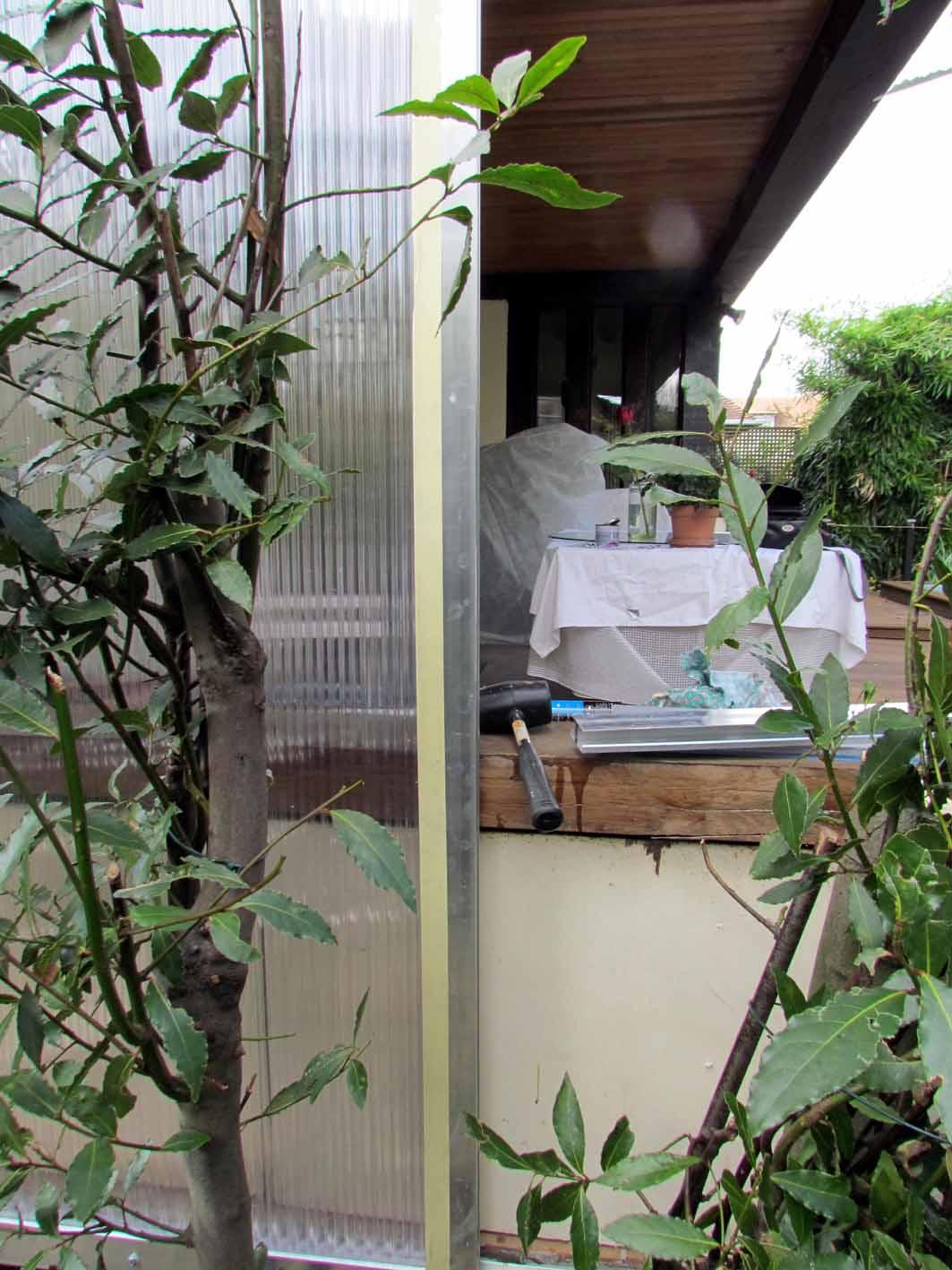 Fermeture D'Un Côté De Terrasse Couverte | Au Jardin De Mo ... tout Fermer Un Cote De Terrasse