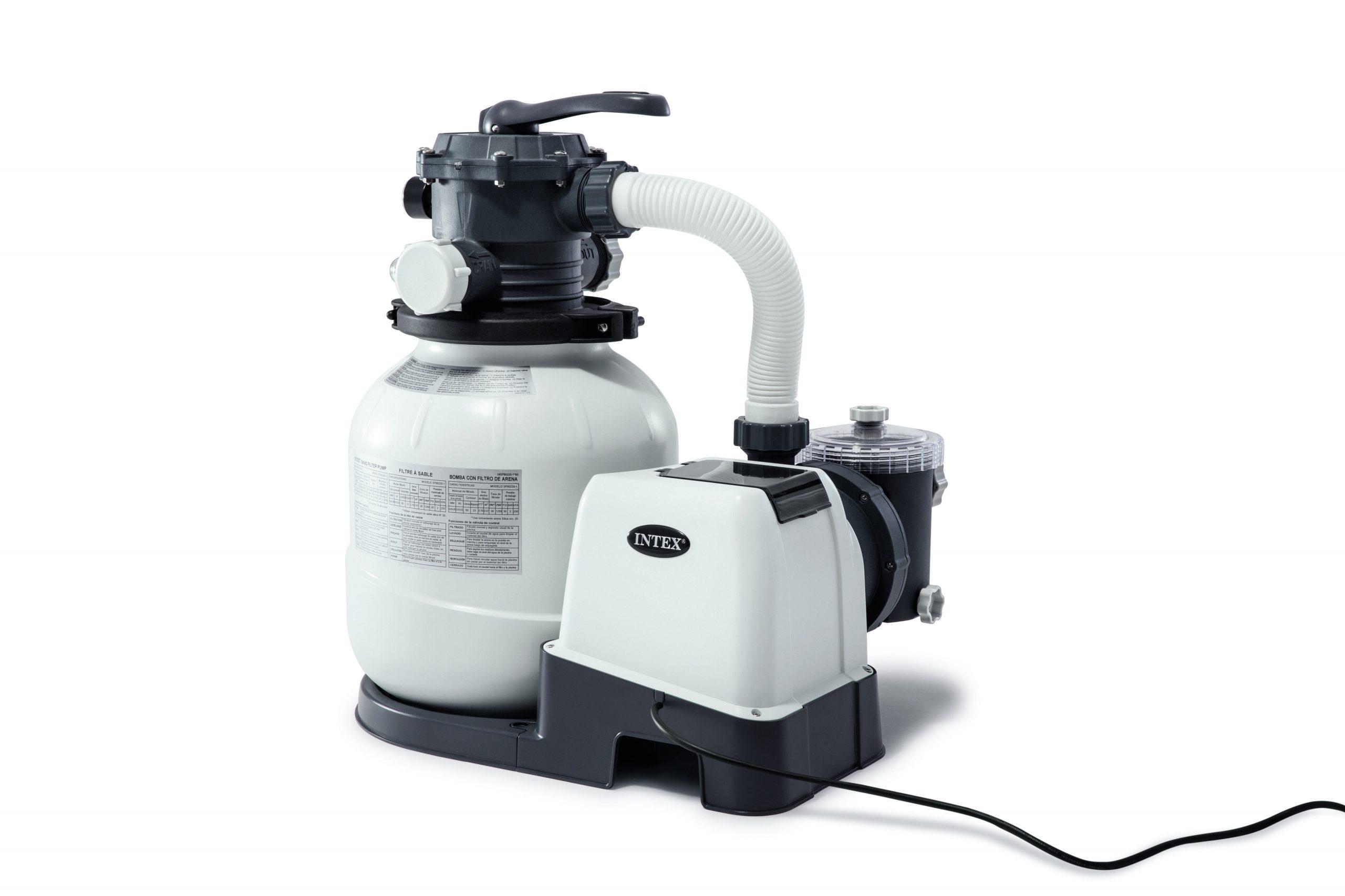 Filtre À Sable Pour Piscine Intex 6 M³/H avec Vanne Piscine Intex