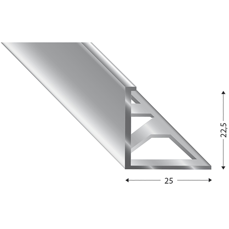 Fliesenprofil Primo, Alu Silber, Innenhöhe 22 Mm, Länge 3000 Mm concernant Primo 22