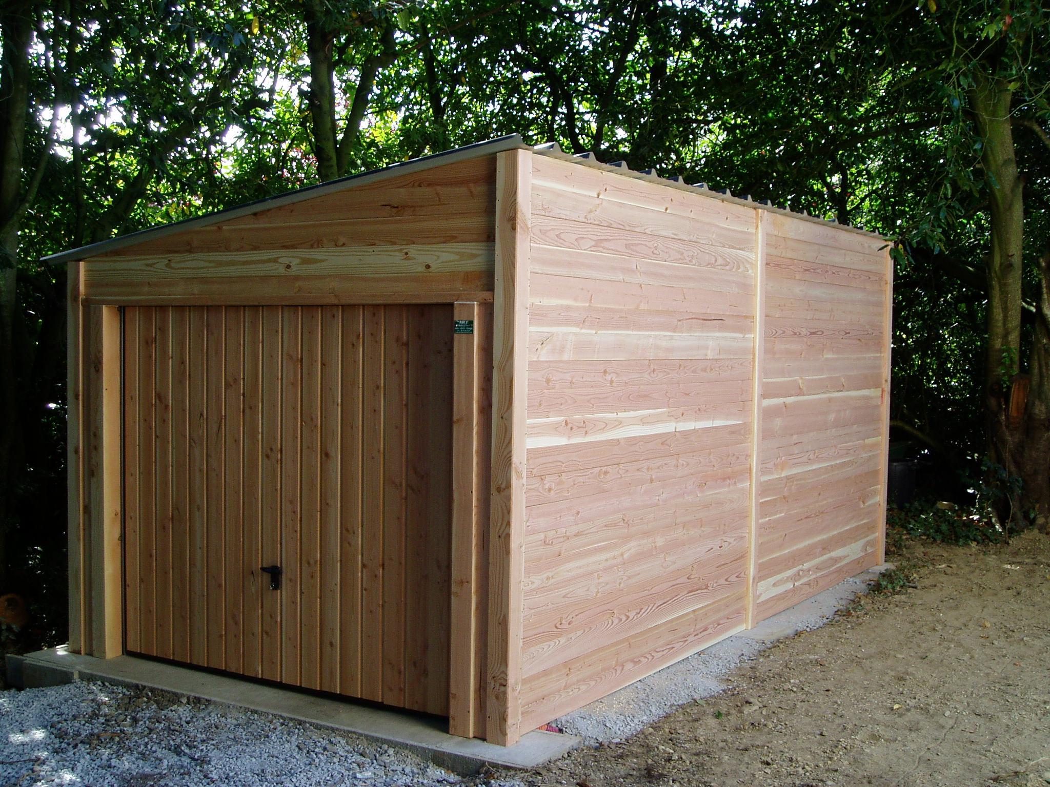 Garage 6 X 3 - 1 Pente concernant Corpor Abri De Jardin En Kit