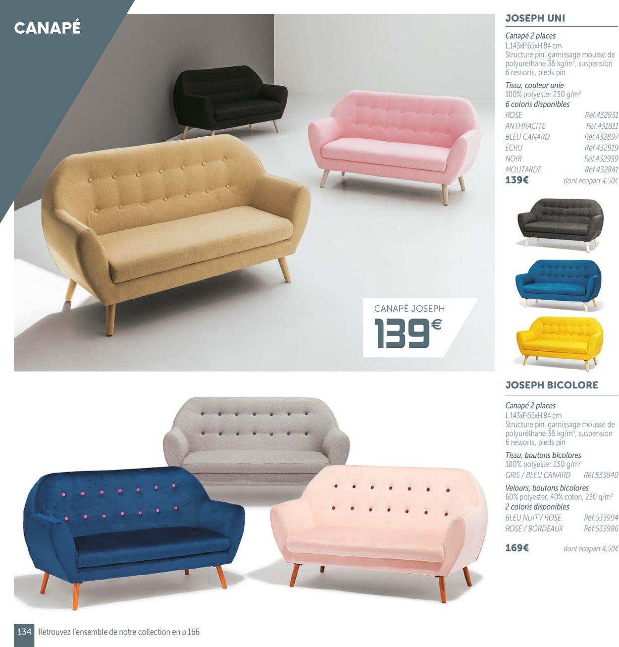 Gifi Catalogue Actuel 19.08 - 31.07.2020 [134] - Catalogue ... destiné Canapé Joseph Gifi Bleu