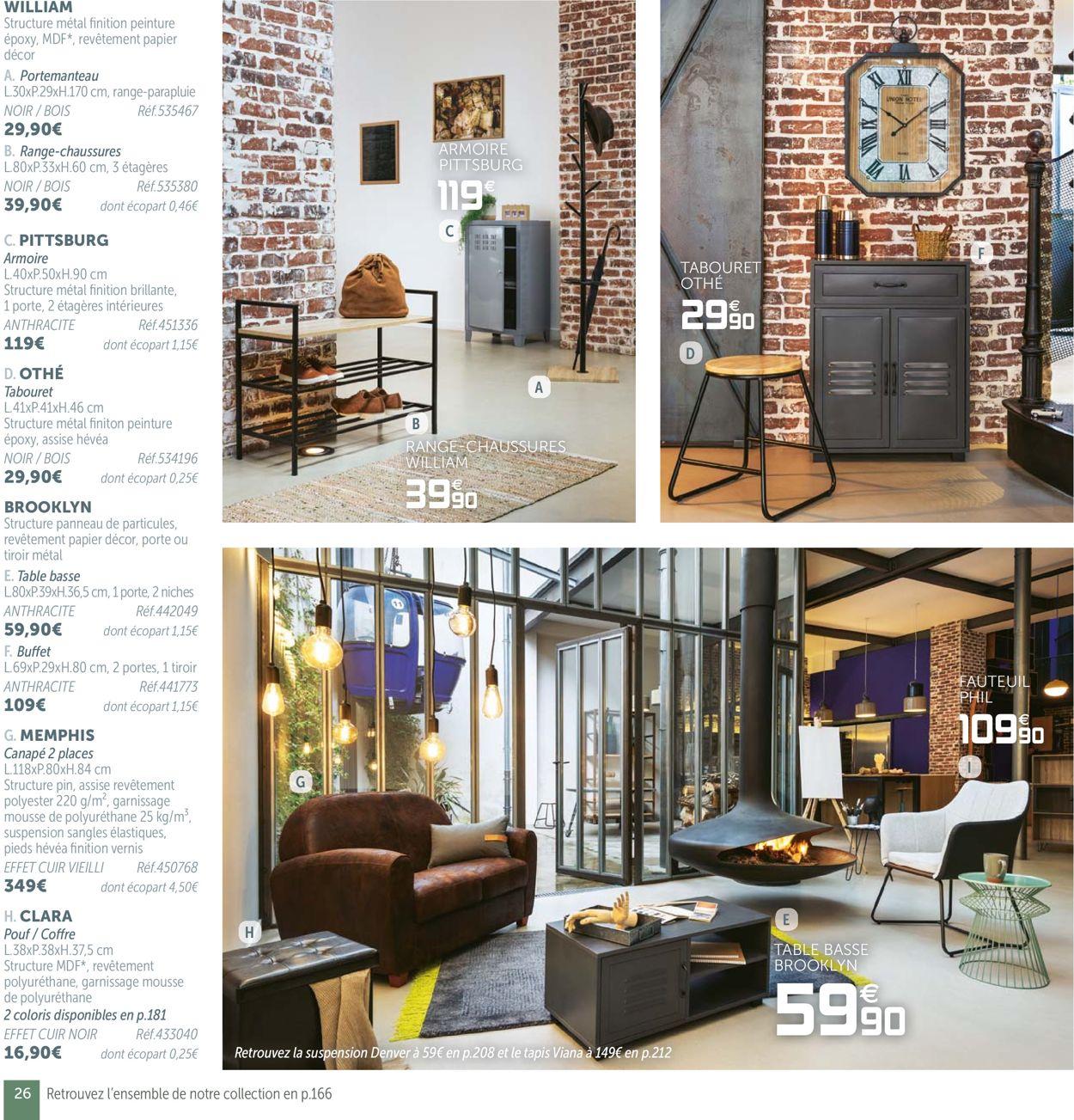 Gifi Catalogue Actuel 19.08 - 31.07.2020 [26] - Catalogue-24 destiné Fauteuil Memphis Conforama