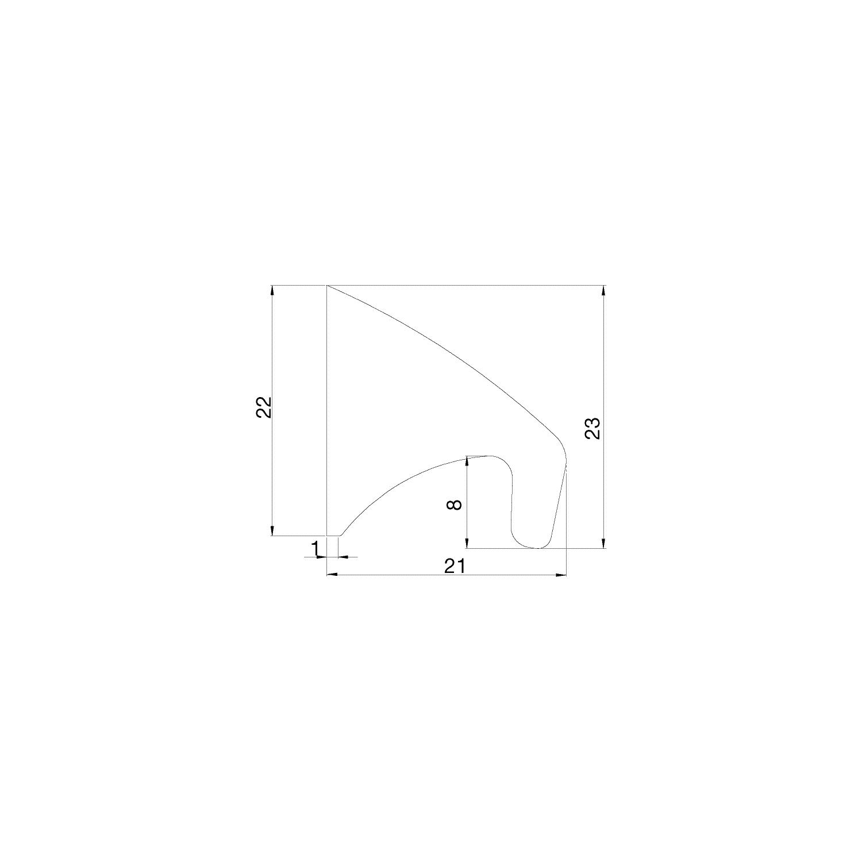 Griffleiste Primo La 2 X 84,5 Mm, Länge 289 Mm, Aluminium ... encequiconcerne Primo 22