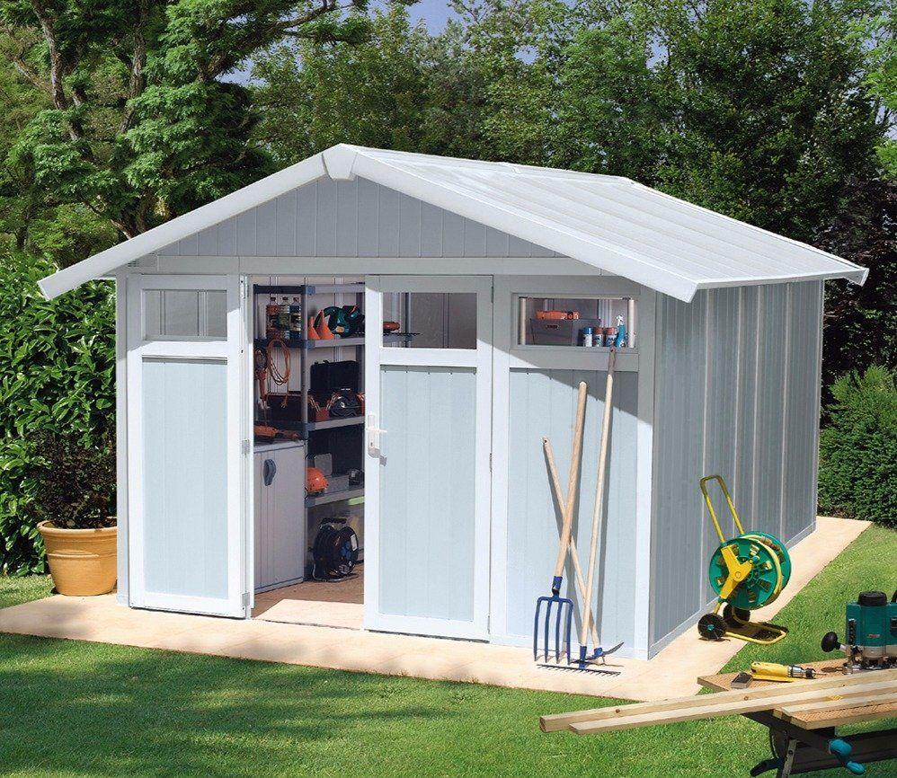 Grosfillex Utility 10 X 12 Ft Pvc Shed | Outdoor Sheds, Shed ... destiné Abri De Jardin Neris