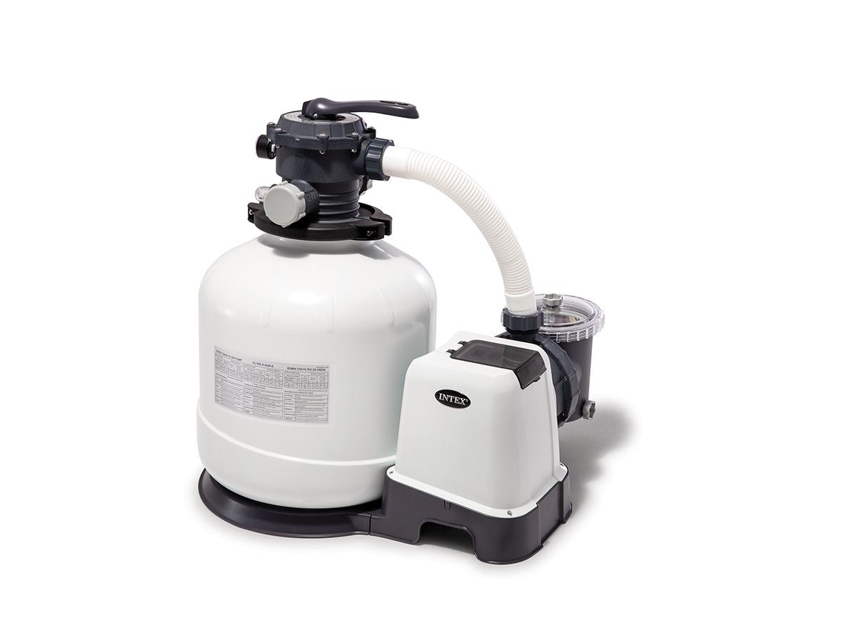 Groupe De Filtration À Sable 10 M³/H - Intex - concernant Pompe Piscine 10M3 H