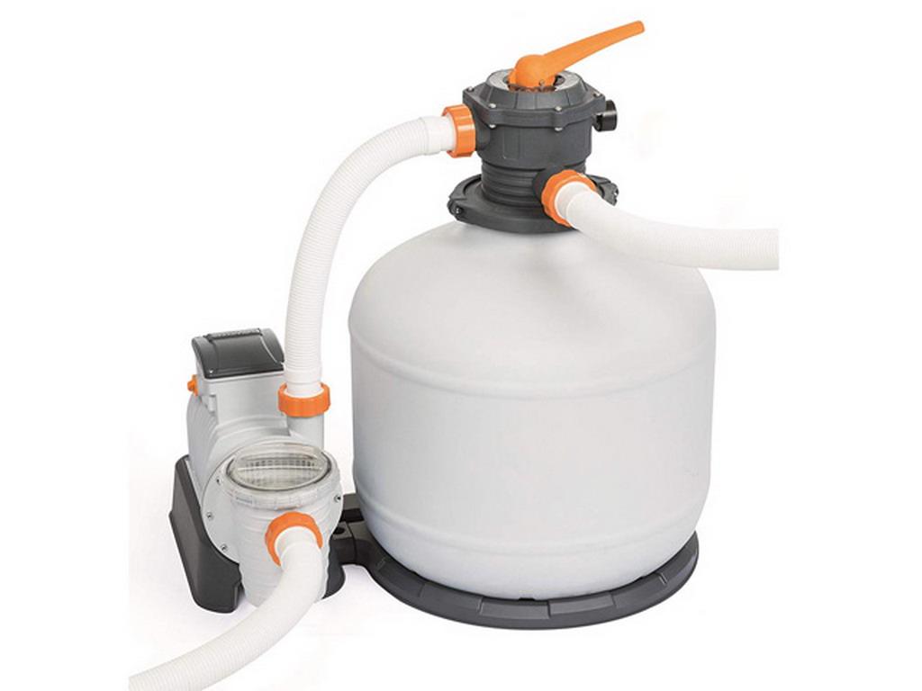 Groupe De Filtration Programmable Piscine Bestway Flowclear 10M³/H Vanne 6  Voies pour Pompe Piscine 10M3 H