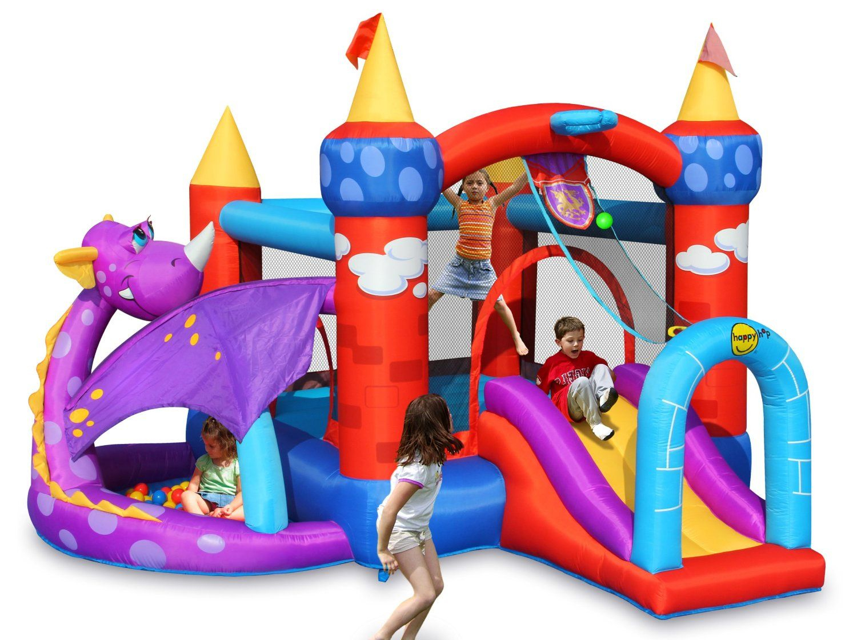 Happy Hop-Happy Hop Aire De Jeux Gonflable Château Du Dragon ... pour Piscine A Balle Toysrus