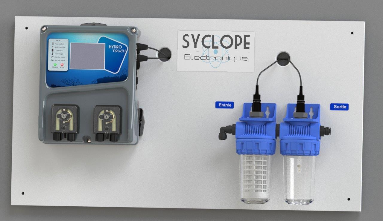 Hydro Touch, (Panneau) Mesure Et Régulation Du Ph, Redox (Mv ... encequiconcerne Hydro Touch Syclope
