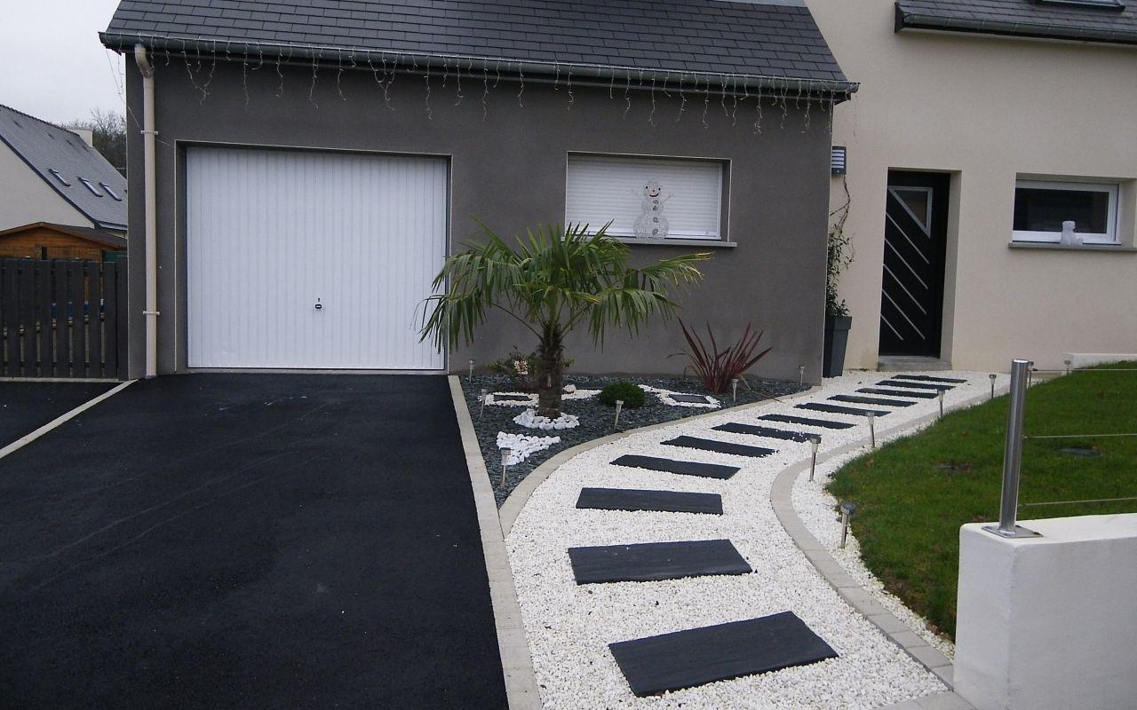 Idee Cloture Devant Maison Design De Maison Beau Amenagement ... intérieur Devant De Maison