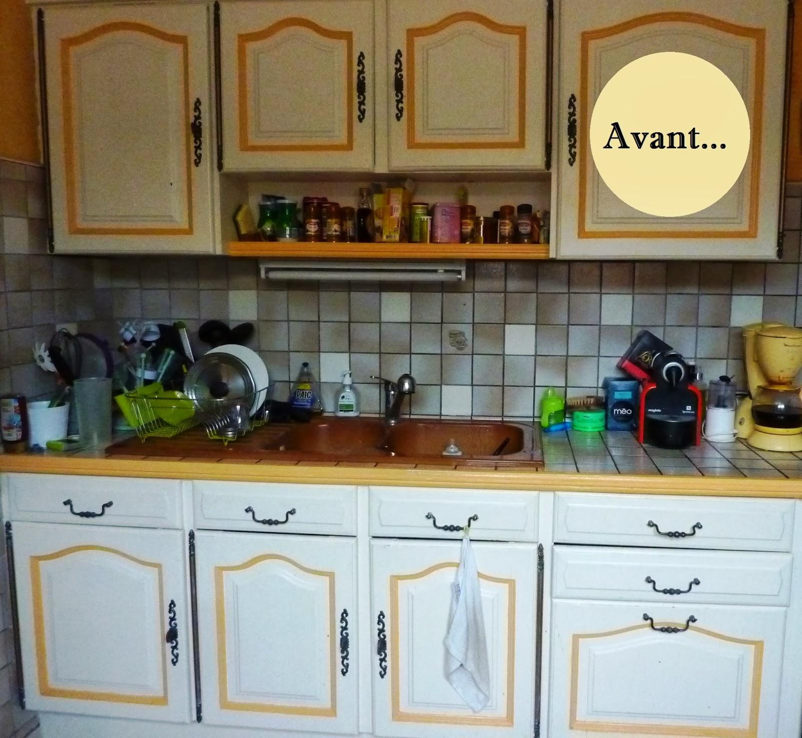 Initiales Gg ... : {Avant/Après} Rénover Sa Cuisine En 2 ... intérieur Carrelage Cuisine Ancien