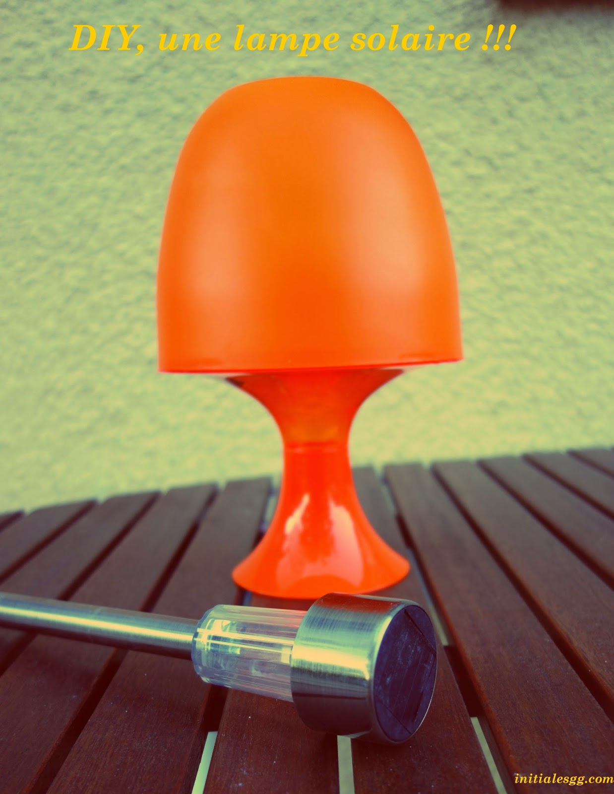 Initiales Gg ... : {Diy} Fabriquer Une Lampe Solaire Pour 7 € ! dedans Lampe Solaire Jardin Centrakor