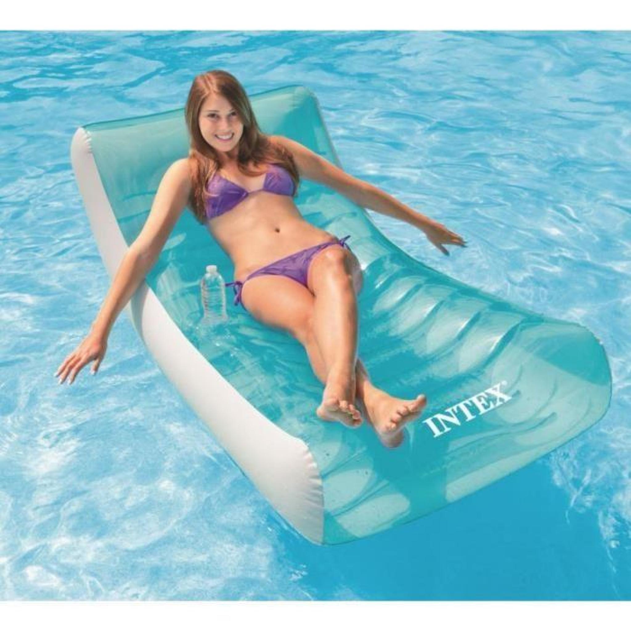 Intex Matelas Gonflable Adulte Pour Piscine Lounge 188 X 99 Cm avec Matelas Gonflable Piscine Pas Cher