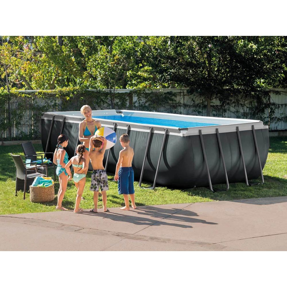 Intex - Piscine Tubulaire Ultra Xtr Frame Rectangulaire 5,49 X 2,74 X 1,32  M - Intex intérieur Piscine Intex Ultra Xtr Rectangulaire 5 49X2 74X1 32