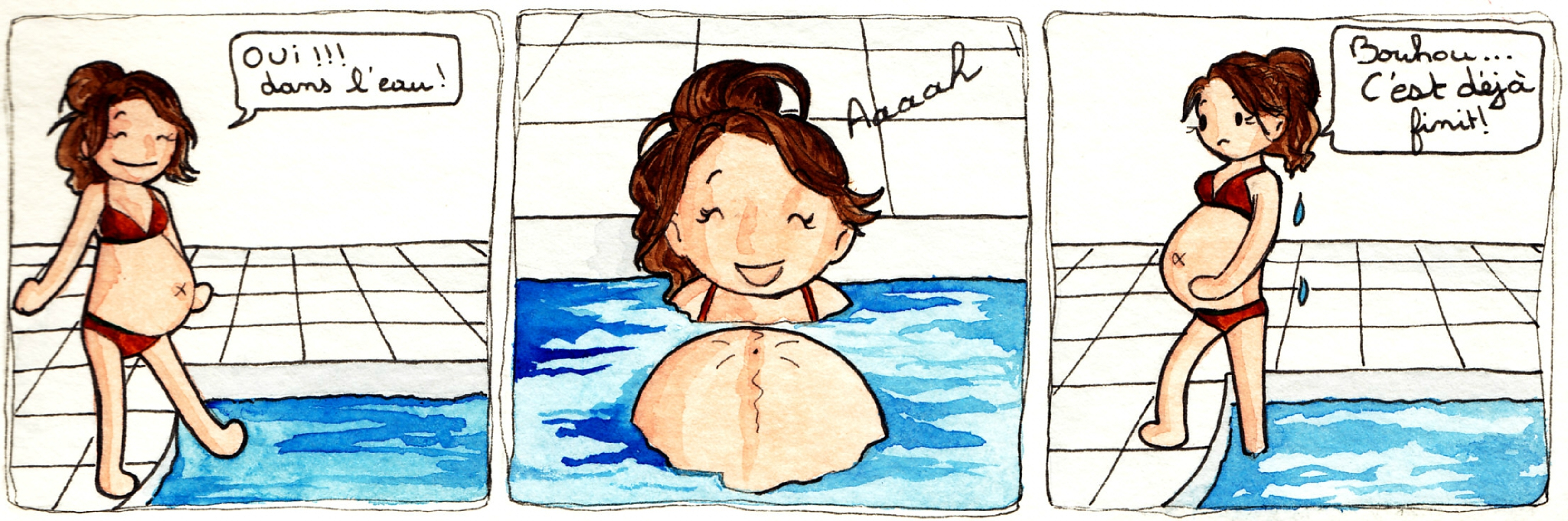 Journal D'Une Femme Enceinte - Vive La Piscine - Le Petit ... à Préparation Accouchement Piscine