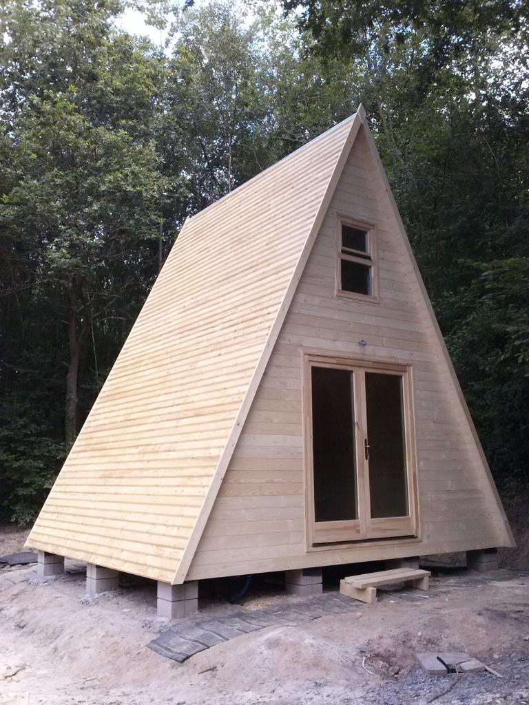 Kit Chalet Bois Tipi 20 M² | Maison Bois, Cabane Bois ... destiné Corpor Abri De Jardin En Kit