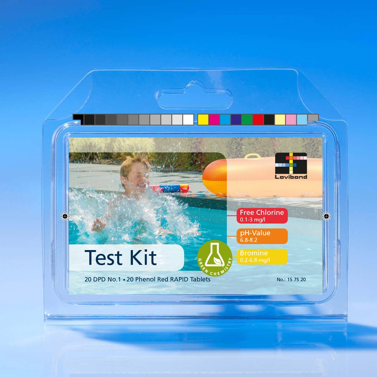 Kit De Test De Piscine Compact Brome/Chlore/Ph Dans Blister ... intérieur Test Piscine