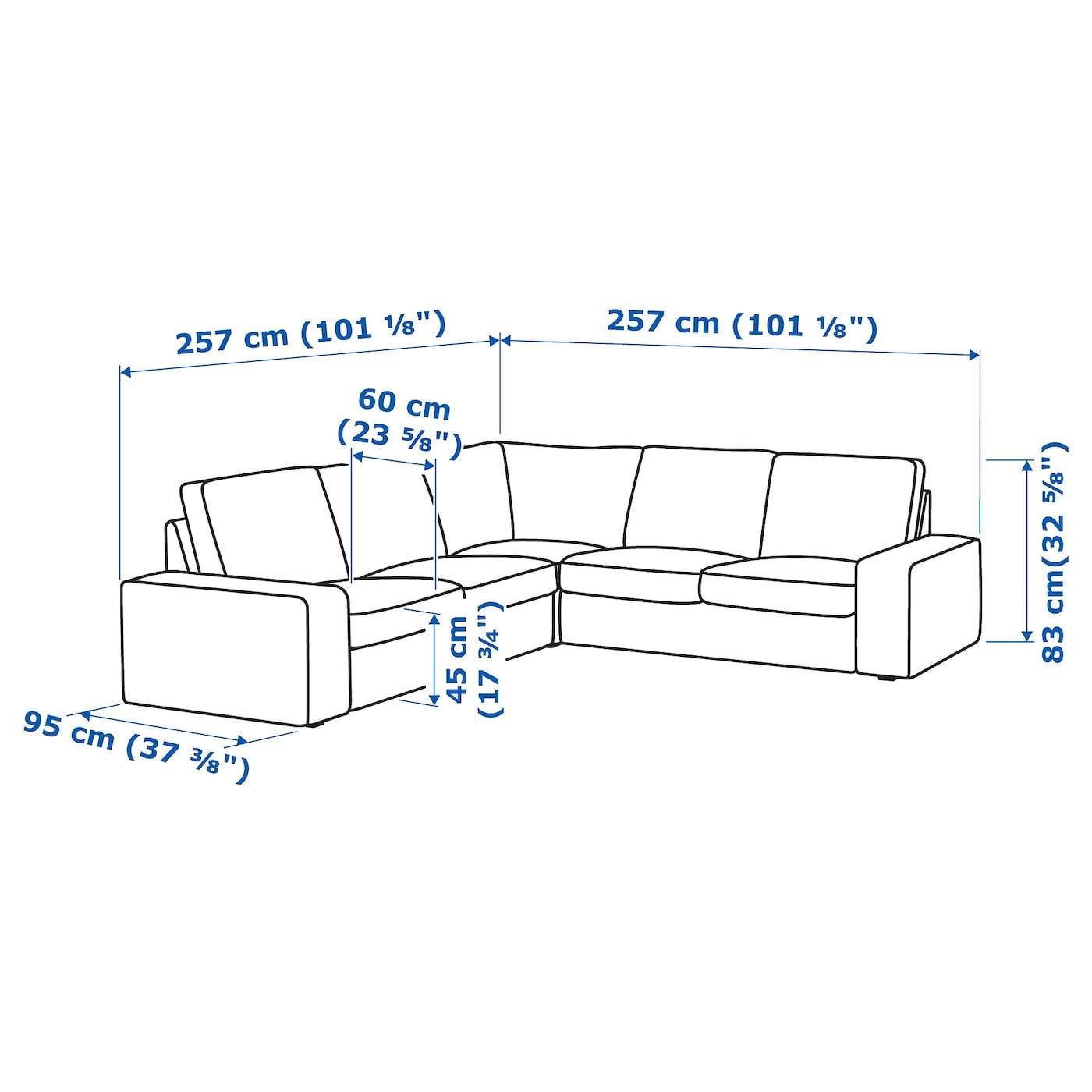 Kivik Canapé D'Angle, 4 Places - Hillared Beige serapportantà Canapé D'Angle 8 10 Places Ikea