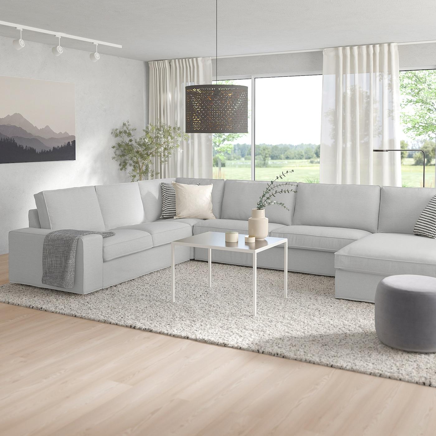 Kivik Canapé D'Angle, 6 Places - Avec Méridienne/Orrsta Gris Clair concernant Canapé D'Angle 8 10 Places Ikea