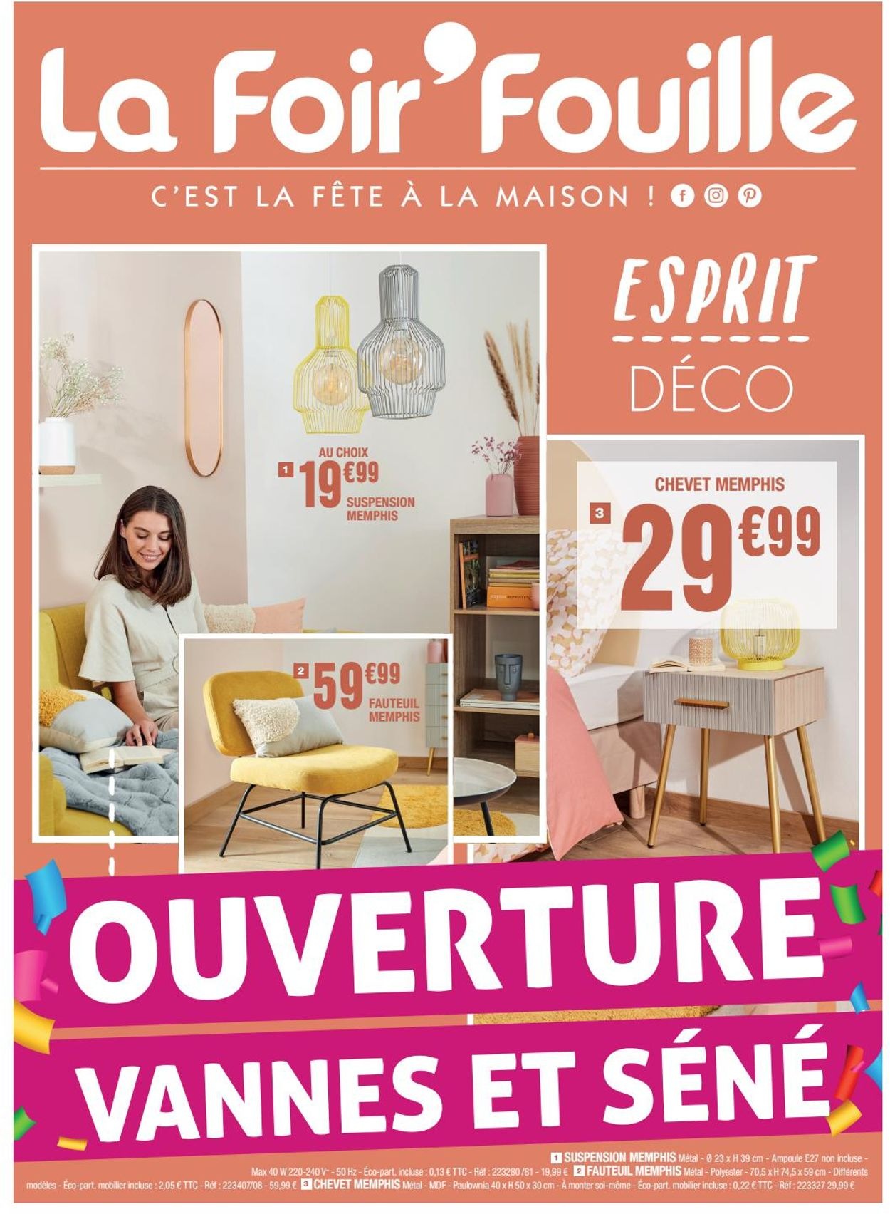 La Foir'Fouille Catalogue Actuel 12.08 - 19.08.2020 ... intérieur Fauteuil Memphis Conforama
