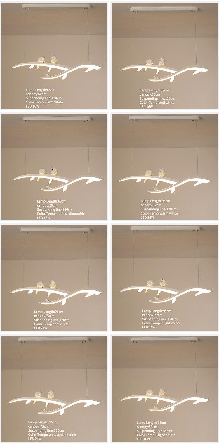 Lampe Suspendue En Forme D'Oiseau, Luminaire Led Blanc Moderne À  Suspension, Luminaire Pour Cuisine, Chambre À Coucher, Chevet, Salle À  Manger destiné Peigne Anti Oiseaux Brico Depot