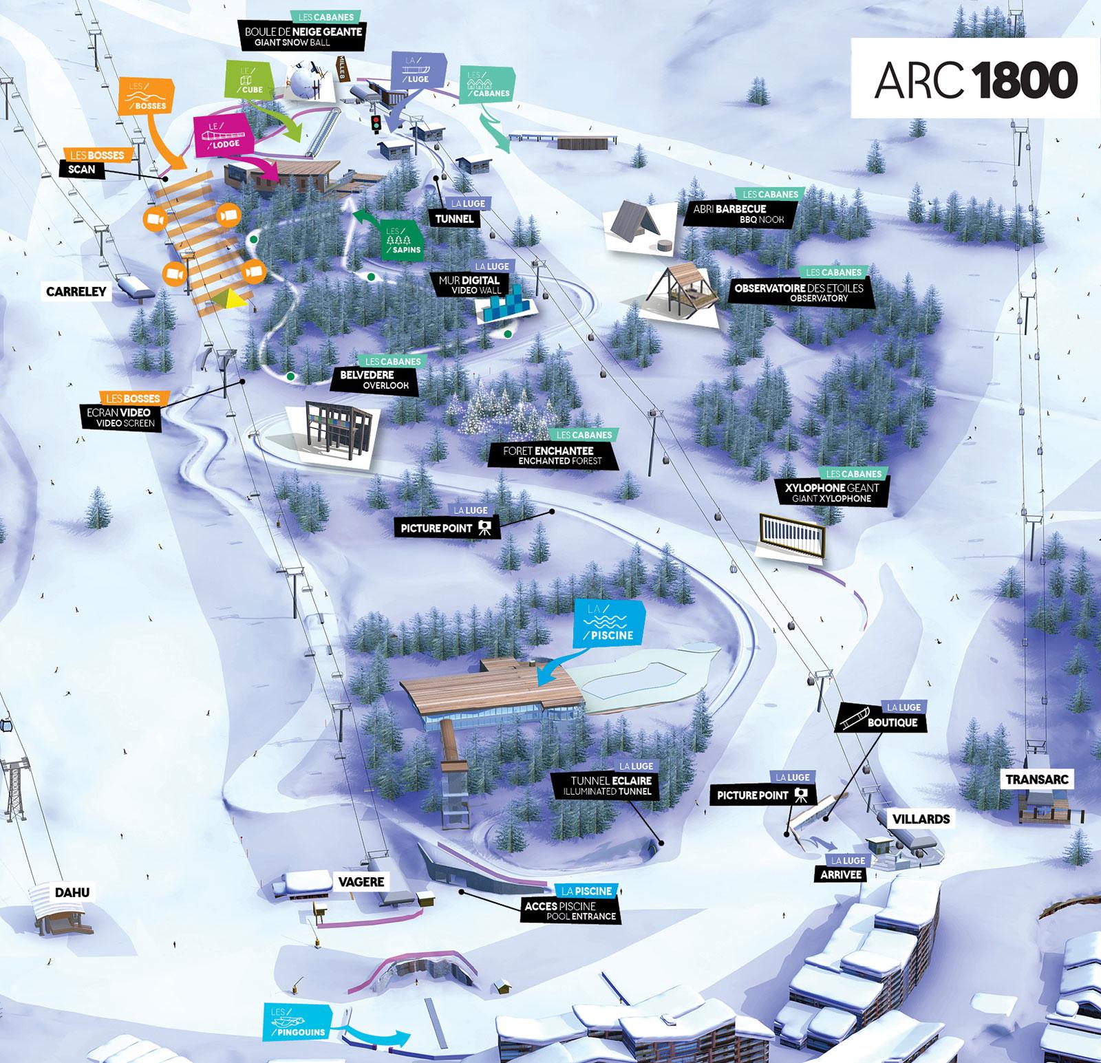 Les Arcs 1800 - Piste Noire encequiconcerne Piscine Arc 1800