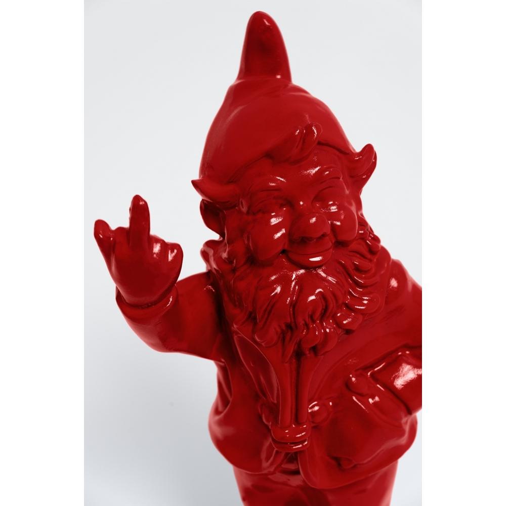 Lezeau - 33Cm - Statue Nain De Jardin Fuck Taille S Colori ... dedans Nain Mutlicolore Fuck